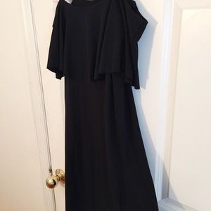 Anthropologie Dresses - Anthro Maeve Black Off Shoulder Dress